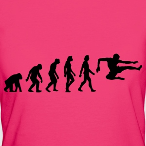 Black Evolution of Karate (1c) Bags  - Women's Organic T-shirt