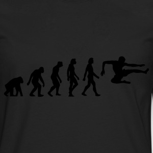 Negro Evolution of Karate (1c) Delantales - Camiseta de manga larga premium hombre