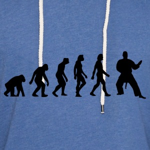 Lyseblå Evolution of Judo (1c) Børne T-shirts - Let sweatshirt med hætte, unisex