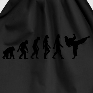 Black Evolution of Taekwondo (1c) Hoodies & Sweatshirts - Drawstring Bag