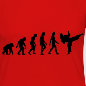Red Evolution of Taekwondo (1c) Kids' Shirts - Women's Premium Longsleeve Shirt