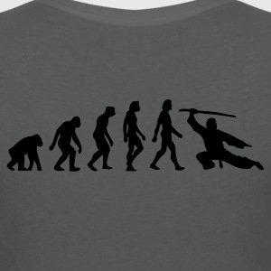 Houtskool Evolution of Martial Arts (1c) Poloshirts - Vrouwen T-shirt met V-hals