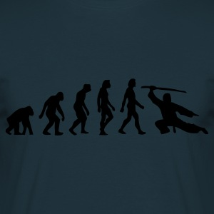 Navy Evolution of Martial Arts (1c) Schürzen - Männer T-Shirt