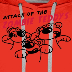 Attack of the Zombie Teddy T-shirts - Herre Premium hættetrøje
