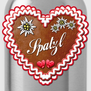 Lebkuchenherz Spatzl Gingerbread heart T-Shirts - Water Bottle