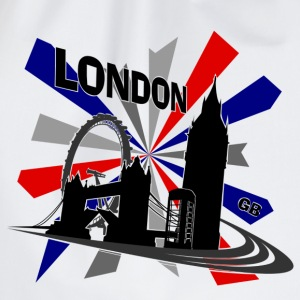 London - Großbritannien Union Jack for Girls - Turnbeutel