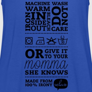 Funny Laundry tag mother knows best t-shirts for I love mothers day, birthday, anniversary celebration T-Shirts - Women's Tank Top by Bella
