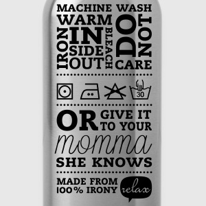 Funny Laundry tag mother knows best t-shirts for I love mothers day, birthday, anniversary celebration T-Shirts - Water Bottle