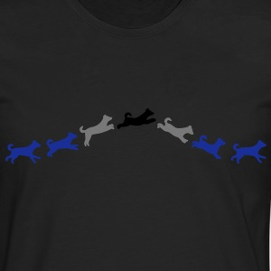 dog jumps T-shirts - Herre premium T-shirt med lange ærmer