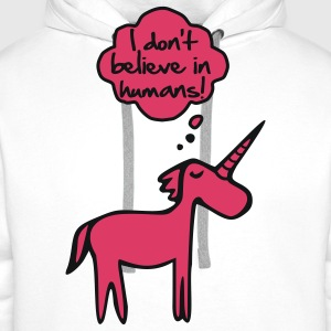 I Don't Belive In Humans T-Shirts - Männer Premium Hoodie