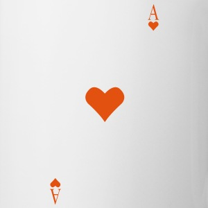 Ace of Hearts op je borst  T-shirts - Mok
