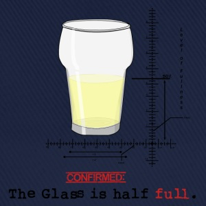 Glass is half full T-shirts - Basebollkeps