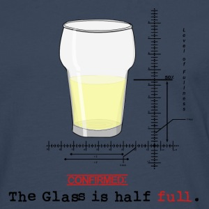 Glass is half full T-shirts - Långärmad premium-T-shirt herr