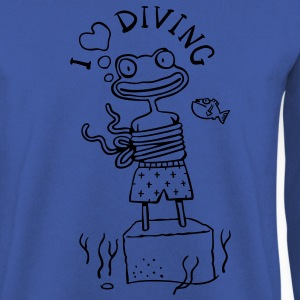 I love Diving T-Shirts - Men's Sweatshirt
