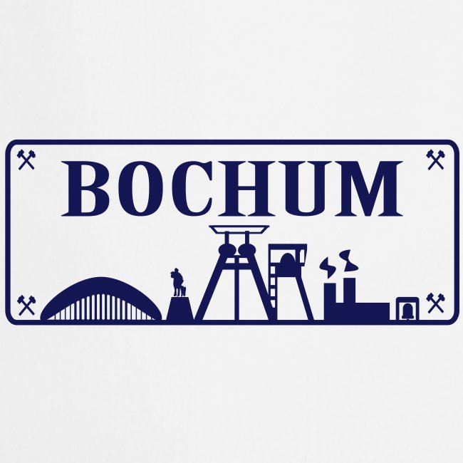 Schild mit Bochumer Skyline - T-Shirt klassisch