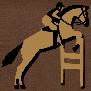 show jumping horse T-Shirts - Shoulder Bag