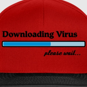 downloading virus... Tee shirts - Casquette snapback