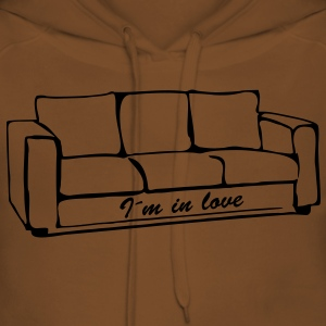 I'm in love, sofa, couch, ottoman, recliner, sofa, couch, bed, chill out, lounge, grandma - Women's Premium Hoodie
