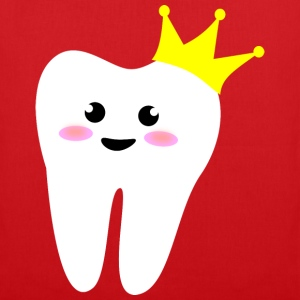 crown_tooth Kinder T-Shirts - Stoffbeutel