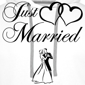 just_married_couple Tee shirts - Sweat-shirt à capuche Premium pour hommes