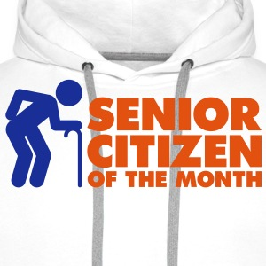 Senior Citizen 4 (2c)++ Tee shirts - Sweat-shirt à capuche Premium pour hommes