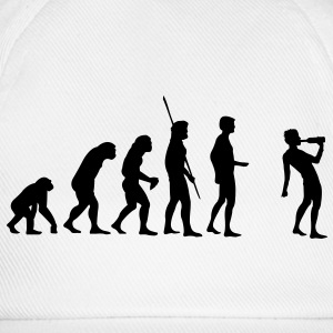 Evolution Saufen T-Shirt - Baseballkappe
