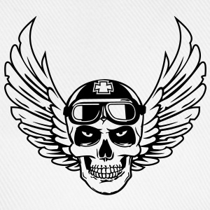 biker skull wings Tee shirts - Casquette classique