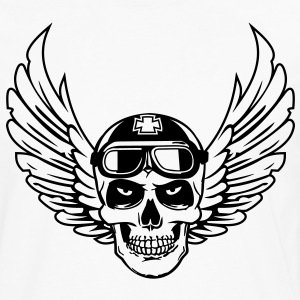 biker skull wings Tee shirts - T-shirt manches longues Premium Homme