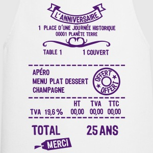 25 ans addition note resto restaur fact Tee shirts - Tablier de cuisine