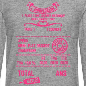 age mettre addition note resto restaur f Tee shirts - T-shirt manches longues Premium Homme