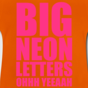 Big Neon Letters Kids'   - Baby T-Shirt