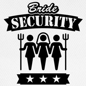 Bride Security, Girlie-T-Shirt - Baseball Cap