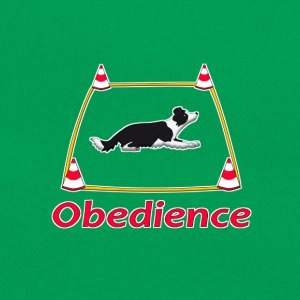 Obedience Border Collie 2 T-shirts - Retro-tas