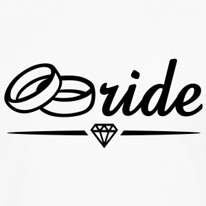 Bride Diamond T-Shirt BW - Men's Premium Longsleeve Shirt