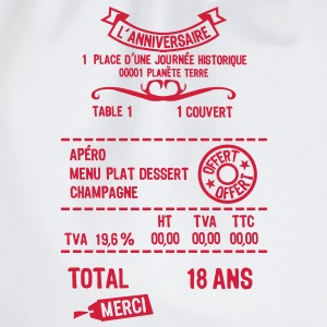18 ans addition note resto restaur fact Tee shirts - Sac de sport léger
