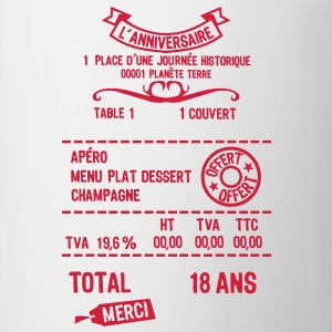 18 ans addition note resto restaur fact Tee shirts - Tasse