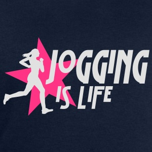 jogging is life female with star i 2c T-Shirts - Men's Sweatshirt by Stanley & Stella