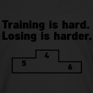 Training vs losing T-Shirts - Männer Premium Langarmshirt