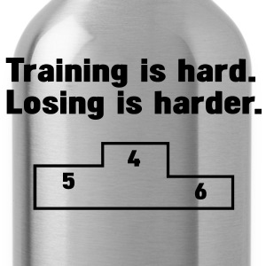 Training vs losing T-Shirts - Trinkflasche