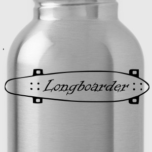 Longboard, longboarder, skateboarding, skating, roller, deck, wood board, skate board T-Shirts - Water Bottle