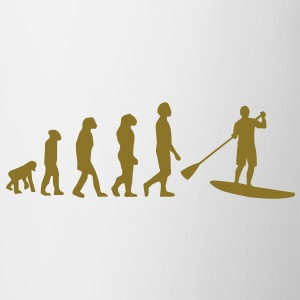 Evolutie, Sup, peddelen staan​​, surfen, surfen Supen, Stand up paddle surfen T-shirts - Mok