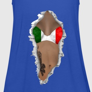 sexy flag italy T-Shirts - Women's Tank Top by Bella