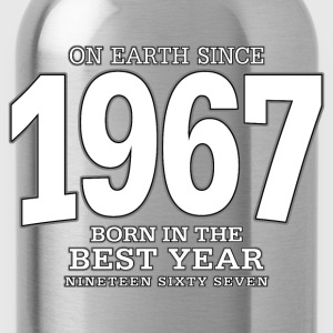 On Earth since 1967 (white) - Trinkflasche