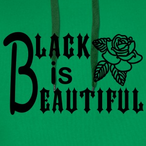 Black is Beautiful Tee shirts - Sweat-shirt à capuche Premium pour hommes