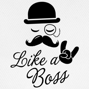 Funny Like a boss with fashionable moustache like a cool sir t-shirts for geek, stag do, mad birthday T-Shirts - Baseball Cap