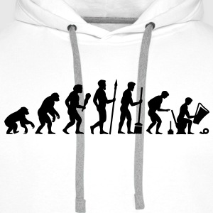 Evolution needs a break! T-Shirts - Men's Premium Hoodie