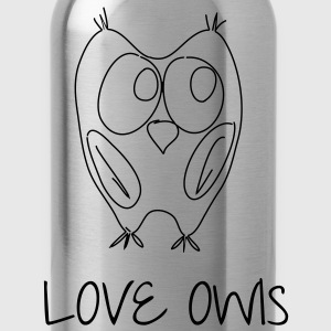 Love Owls - Trinkflasche