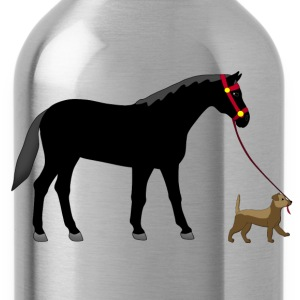 dogs and horses T-Shirts - Water Bottle