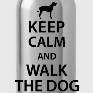 Keep calm and walk the dog T-shirts - Drinkfles