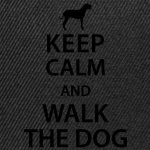 Keep calm and walk the dog Tee shirts - Casquette snapback